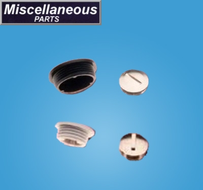 Dome Plugs - Nylon and Nickel Plated Brass